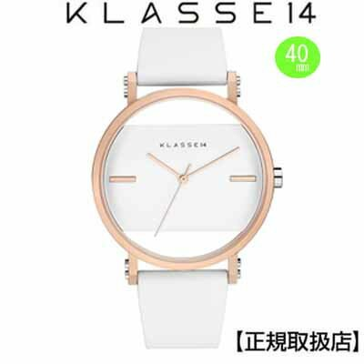 (あす楽)クラス14 Klasse14 腕時計  KLASSE14 Imperfect White Square IP Rose Gold IM18RG006M  (一部透過) 40mm...