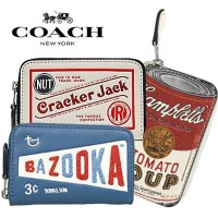 【SALE】【COACH】 バズーカクラッカージャック小銭入れ Bazooka Cracker Jack Campbells Zip Around Coin Case【正規品 USA直送】