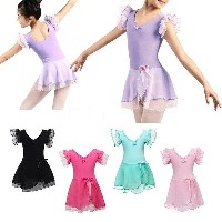 Girls Kids Ballet Dance Dress Leotard Skirt Fancy Costumes Dancewear Gymnastic Dress Up Cosplay