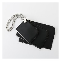【ALEXANDER WANG】ポーチ-DIME TRIPLE ZIP POUCH 7048P0331L-【ギルドプライム/GUILD PRIME レディス その他(バッグ) ブラック ルミネ...