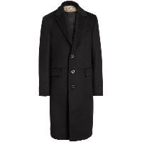 Burberry Wool Cashmere Tailored Coat - ブラック