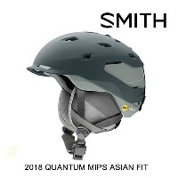 2018 SMITH スミス ヘルメット HELMET QUANTUM-MIPS ASIAN FIT MATTE THUNDER GRAY