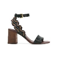 See By Chloé stud embellished sandals - ブラック