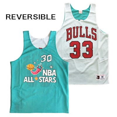 【MITCHELL&NESS】 NBA ALL STAR REVERSIBLE MESH TANK TOP [TURQUOISE/WHITE] / ミッチェル&ネス NBA オールスター...