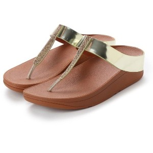 【SALE 50%OFF】フィットフロップ FitFlop FINO CRYSTAL TOE-THONG SANDALS (Gold) レディース