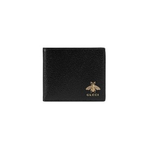 Gucci Animalier Leather Coin Wallet - ブラック