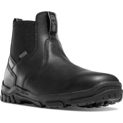 "ダナー メンズ ブーツ&レインブーツ シューズ Lookout Station Office 5.5"" NMT Chelsea Boot Black Full Grain Leather/Nylon"