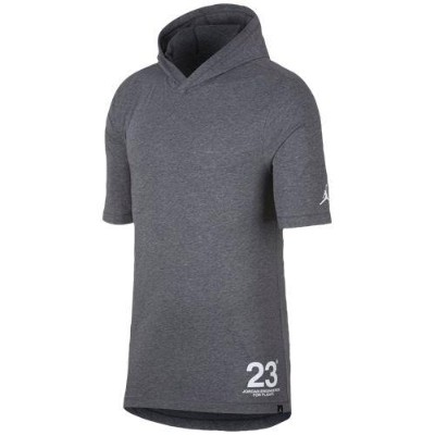 (取寄)ジョーダン メンズ JSW 23 フーデット Tシャツ Jordan Men's JSW 23 Hooded T-Shirt Carbon Heather White