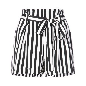 L'agence striped shorts - ホワイト