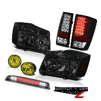 ヘッドライト 4X4 Smoke Headlight Tail Light LEFT RIGHT FogLamp High LED For 2004-2015 Titan 4X4スモークヘッドライトテ...