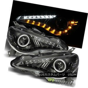 ヘッドライト Black 2012-2016 Scion FRS BRZ 86 LED DRL Projector Headlights w/LED Signal Lamps ブラック2012...