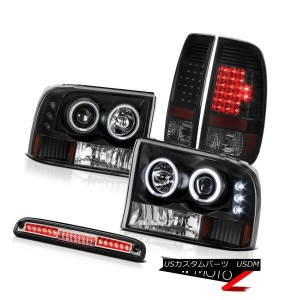 ヘッドライト 1999-2004 F350 6.8L CCFL Halo Headlights LED Tail Lights Lamps Euro Third Brake 1999-2004...