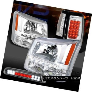 ヘッドライト 03-06 Silverado SMD DRL Clear Headlights+LED Tail Lamps+Smoke LED 3rd Brake 03-06 Silverado...