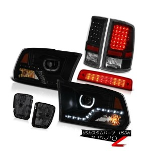 ヘッドライト 2013-2018 RAM 1500 DRL Head Lamps Red Brake Light Driving Lights Led Tail PAIR 2013-2018 RAM...