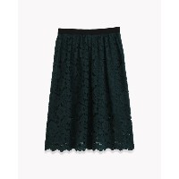 【Theory】Embroidered Lace Gather Skirt 総レース仕立てのフェミニンなスカート。 グリーン 大人 セオリー レディース