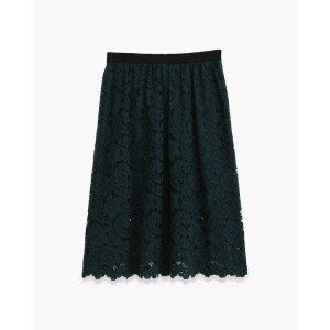 【Theory】Embroidered Lace Gather Skirt 【30%OFF】総レース仕立てのフェミニンなスカート。 グリーン 大人 セオリー レディース