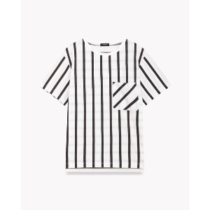 【Theory】【50%OFF】Reflect Stripe Os Pkt Tee 【50%OFF】【50%OFF】ワイドストライプ柄が印象的な半袖Tシャツ。 ホワイト 大人 セオリー