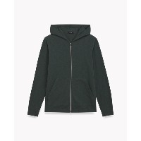 【Theory】Cosmos Layer Zip Hoodie 新しいカットソー素材で仕立てたジップアップパーカー。 グリーン 大人 セオリー