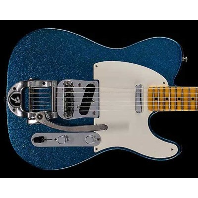Fender Custom Shop 2017 Limited Edition Twisted Telecaster Journeyman Relic Aged Blue Sparkle