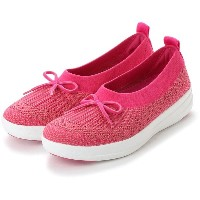 【SALE 50%OFF】フィットフロップ FitFlop UBERKNIT BALLERINA WITH BOW (Fuchsia/Dusky Pink) レディース