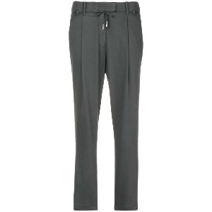 Eleventy cropped tapered trousers - グレー