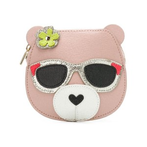 Furla Allegra Bear coin purse - ニュートラル
