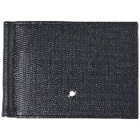 メンズ MONTBLANC UNICEF_Meisterstuck wallet 6cc with monew clip small 財布  ブラック