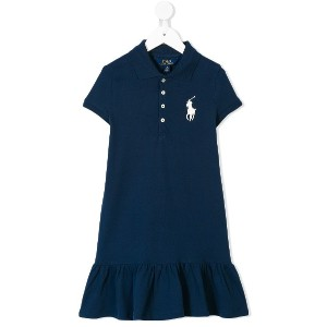 Ralph Lauren Kids logo polo shirt - ブルー