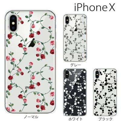 iPhone X / iPhone8 / iPhone8 Plus ケース ハード ローズ ツリー(クリア)薔薇 バラ iPhone7 iPhone SE iPhone6s iPhone5s...