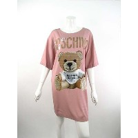 【50%OFF】【半額】【あす楽】【送料無料】MOSCHINO COUTURE【モスキーノクチュール】【レディース】「THIS IS A NOT MOSCHINO TOY」Tシャツワンピース/ピンク...