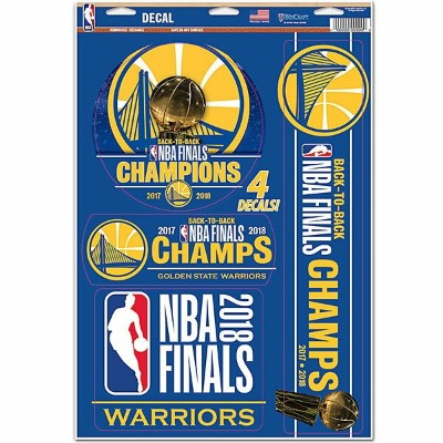 2018 NBAファイナル チャンピオン ウォリアーズ ステッカーセット Golden State Warriors 2018 NBA Finals Champions Multi-Use...