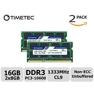 Timetec Hynix IC 16 GB Kit (2x8GB) ノートPC用メモリ DDR3 1333 MHz PC3 10600 204 Pin SODIMM Laptop upgrade...