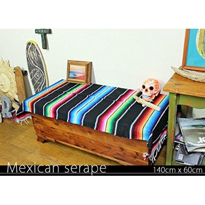 RUG&PIECE Mexican Serape made in mexcico ネイティブ メキシカン サラペ メキシコ製(rug-6092)