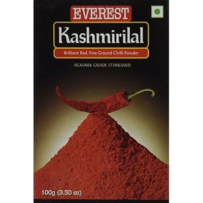 Everest Kashmiri Lal Ground Spice Used in Dishes for Its Hot Taste and Reddish Color (100 Gms) -...