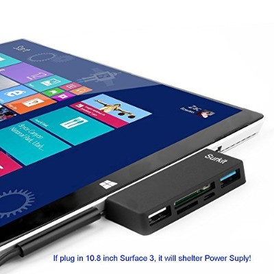 Surface Pro Hub Adapter/ Card Reader, High Speed USB 3.0 Transfort and USB 2.0 for Mouse or...