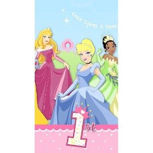 Disney 1st Birthday Princess Plastic Tablecover ディズニー第一誕生日の王女プラスチックTablecover♪ハロウィン♪クリスマス♪