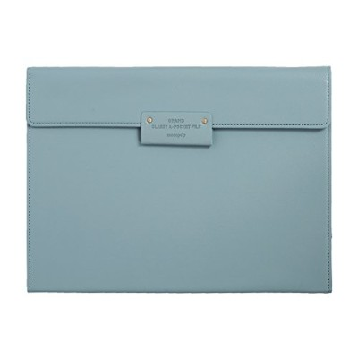 【MONOPOLY 公式】正規品 GRAND CLASSY A-POCKET FILE PISTACHIO BLUE グランドクラッシーエーポケットファイル バインダー 多機能フォルダー...