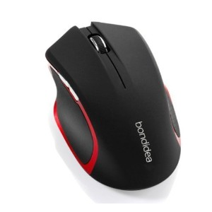 Zotech Bondidea N86 Wireless Mouse for PC and MAC. 6 Buttons, 3 Adjustable DPI Levels, 3200 DPI, 18-Month Battery Life, Battery and Mouse pad included! (Black) [並行輸入品]