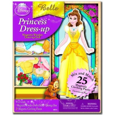 Artistic Studios Disney Belle Wooden Magnetic Playset, 25-Piece by Artistic Studios Ltd. [Toy] ...