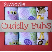 Muslin Swaddle Blankets Premium 100% Cotton by Cuddly Bubs - Best Summer Swaddling Wraps 47x47 for...