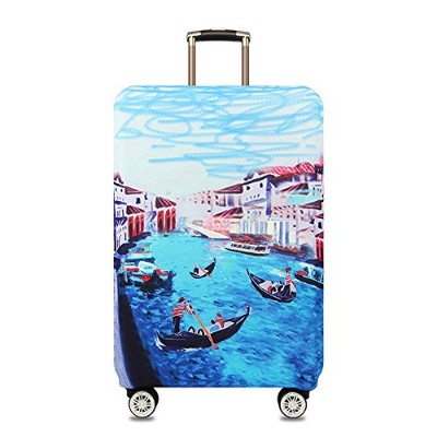 Youth Union スーツケースカバー 伸縮素材 欧米風 キャリーバッグ お荷物カバー (XL(29-32 inch luggage), Venice Painting)