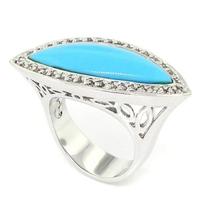Appealing Marquise Largeカクテルring-turquoise & Pavé