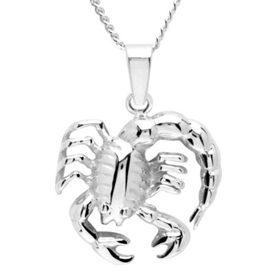 ペンダントIn Collections Ladies 'Pendant 925/000?Sterling Silver Curb Chain 50?cm Zodiac Scorpion[並行輸入]