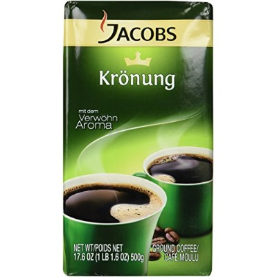 Jacobs Kronung Ground Coffee, Pack of 2-17.6ounces by Jacob's