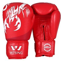 WesingボクシンググローブムエタイトレーニングプロフェッショナルスパーリングPunching Bag Mitts Kickboxing Fighting レッド