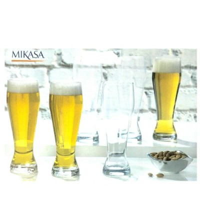 MIKASA Set of 6 Beer Glasses 660ml ビアグラス 6個セット