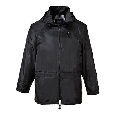 Portwest US440BKRXL Classic Rain Jacket, Black, Extra Large