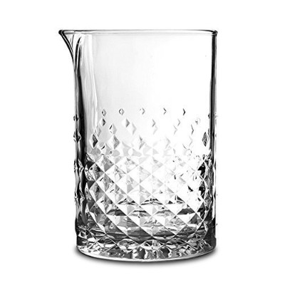 Libbey Glass Studded Mixing Glass with Julep Strainer & Pourer - 750 ml by Libbey