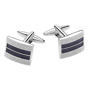メンズカフスCode Red Transparent Blue Cufflinks[並行輸入品]