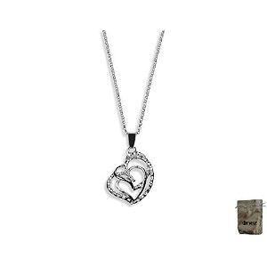 男性向けネックレスOriginal Enez 46?cm Necklace with Heart Pendant (3.0?x 2.5?cm) R2376?18ct Gold Plated +...